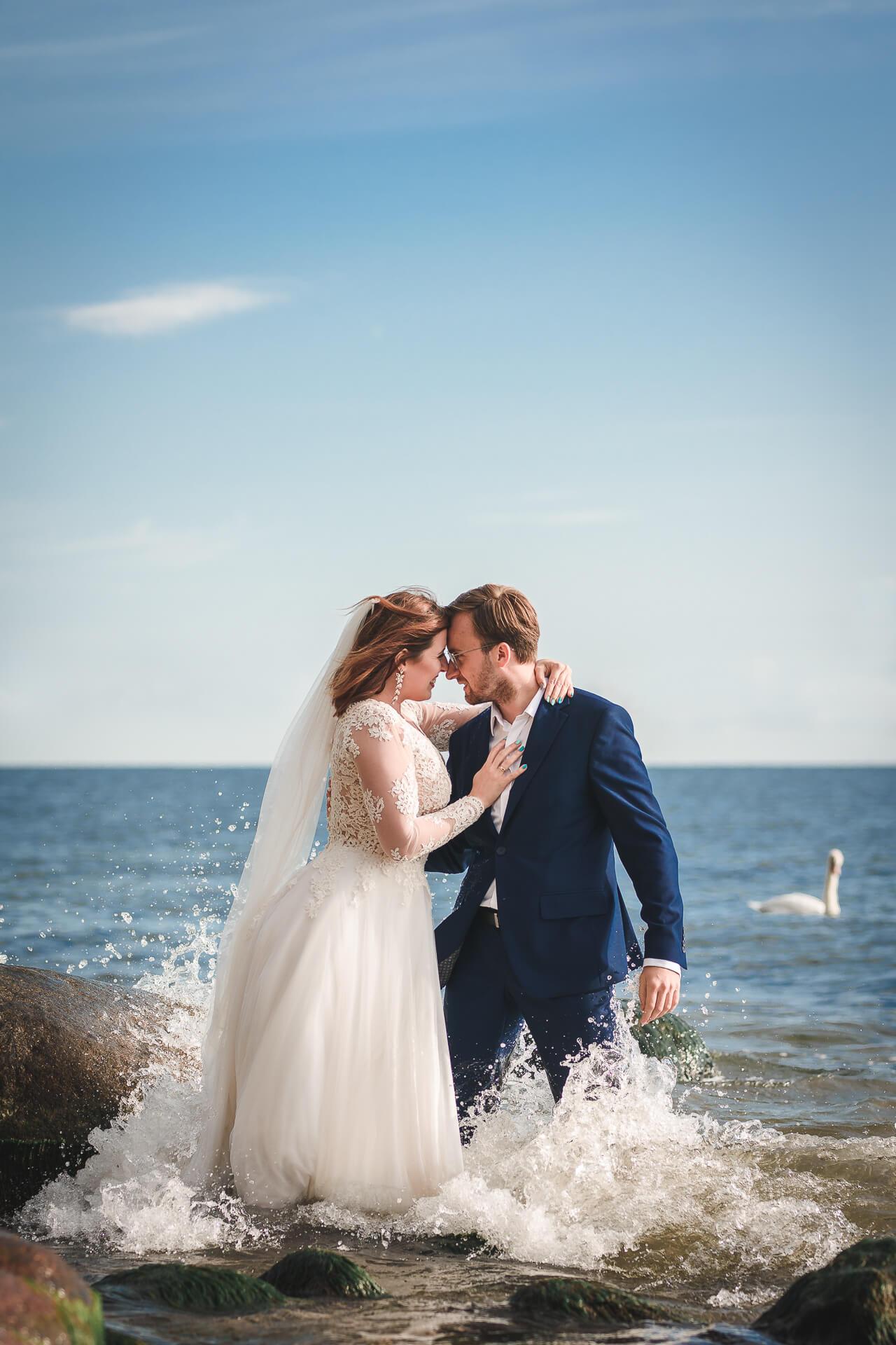 Sesja ślubna w Gdyni Orłowo przy klifie