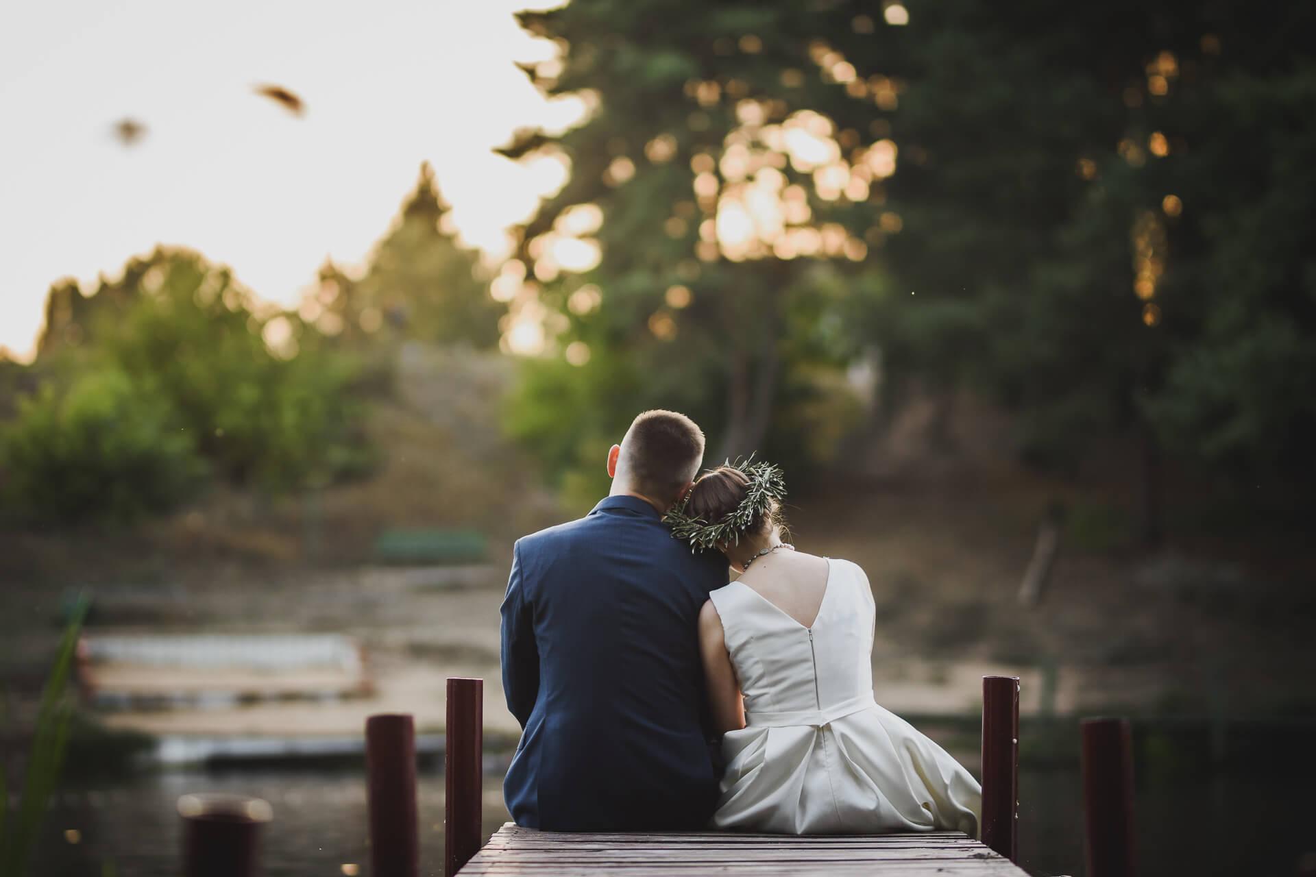 Sesja ślubna nad jeziorem nad zalewem koronowskim