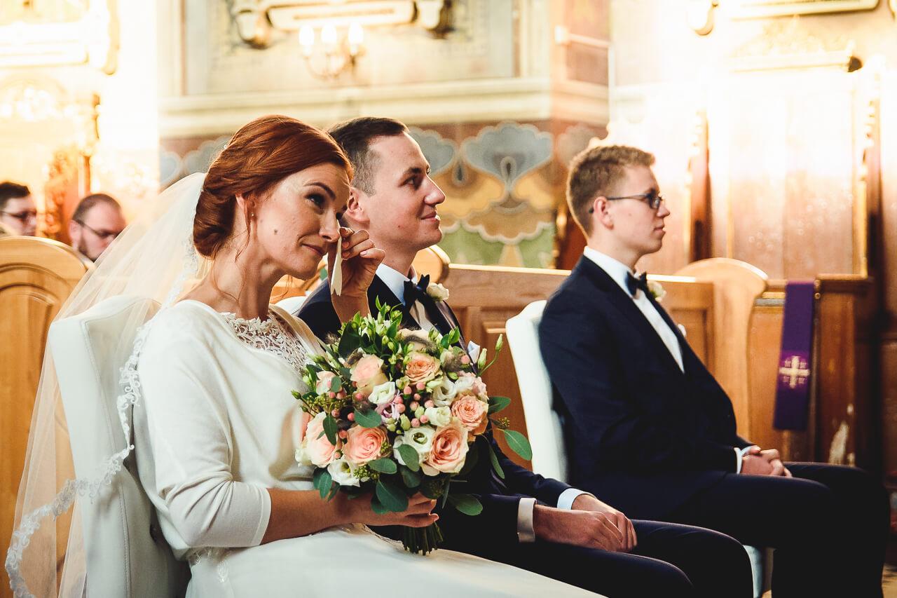 Wzruszenie na ślubie Strzelcy Wyborowi