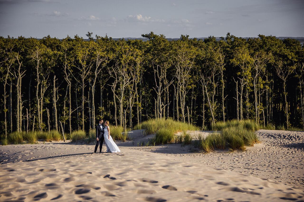 sesja ślubna plenerowa na wydmach w łebie strzelcy wyborowi fotografia ślubna bydgoszcz